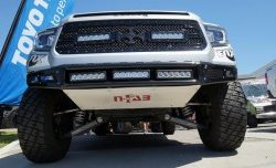 N-FAB | MULTI-MOUNT LED M-RDS RADIUS FRONT BUMPER W/SKID PLATE | 2014-2016 TUNDRA